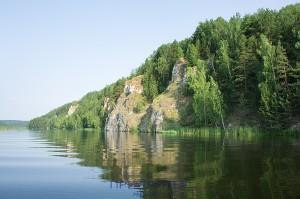 Михайловский пруд. Береговая линия.