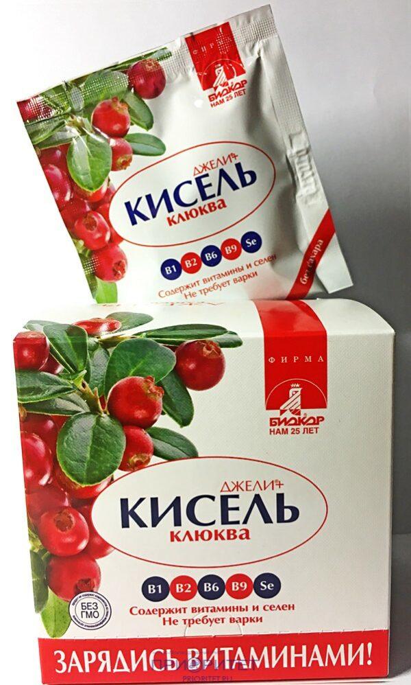 Кисель Джели Клюква